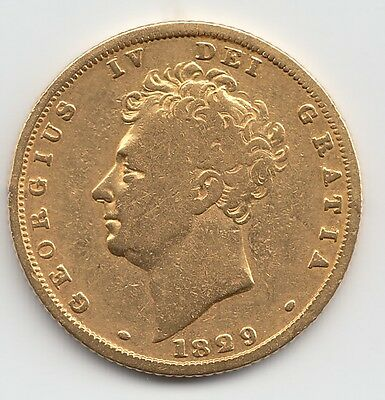 1829 George IV Gold Sovereign