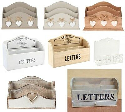 Vintage Style Wooden Letter Racks Post Card Holder Storage Rack Decoration ty