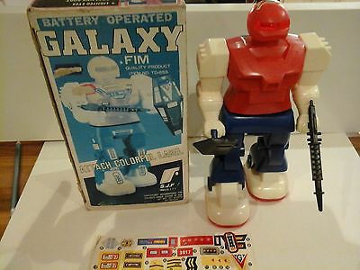 Galaxy battery operated vintage toy robot
