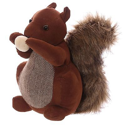 Squirrel Shaped Fabric Door Stop 26cm High Door Stopper Free Standing