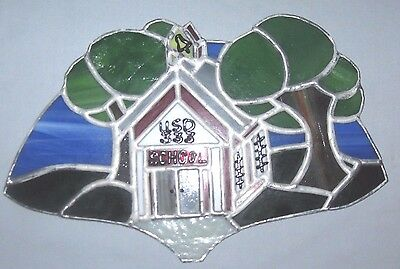 Concordia, Ks. Stained Glass Picture Schoolhouse USD #333