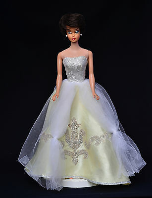 """Vintage 1964 Barbie """"Little Theater Cinderella """" #872 Ball Gown with Slipper"""