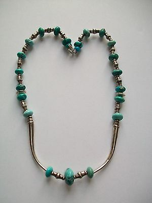 Vintage Navaho Silver and Turquoise Necklace