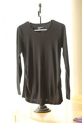 Gap Maternity BLACK Long-Sleeved Supersoft Basic Tee Shirt : S Small
