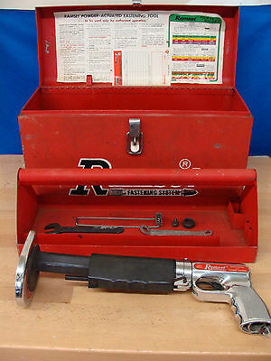 Ramset 122MD Powder Actuated Hammer Nail Gun Fastening Tool with Steel Case