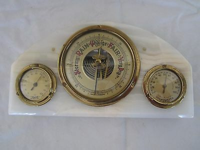 Vintage Alfred Dunhill Barometer-Hygrometer-Thermometer Weather Station--Working
