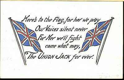 Patriotic Ww1 Post Card British Flag Of The Union [Jack] Coloured Post Card