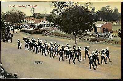 Pre Ww1 Photo Post Card British Army Raj India Umballa Second Sikh War Funeral