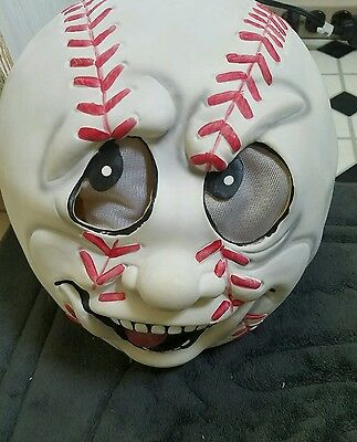 Rubber Baseball Mask by Easter Unlimited Inc HALLOWEEN COSTUME BASEBALL FACE