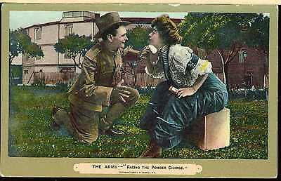 Nice 1909 Pre Ww1 United States Army Dough Boy Facing Dangerous Powder Charge
