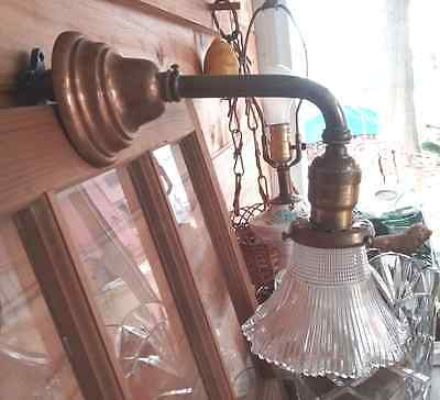 Antique Vintage Brass Wall Sconce Light Bryant Co. NICE!!!