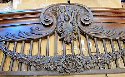 Antique Victorian Hardwood Rococo Architectural Archway Monumental Very Ornate