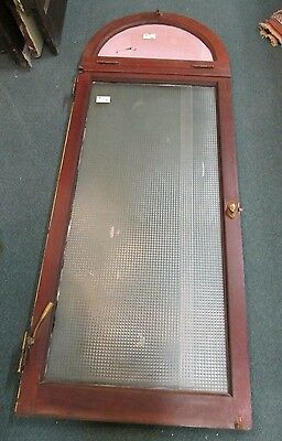 Solid Oak Antique Window W / Half Moon Transom Window A New York Estate #17