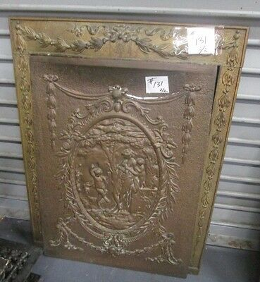 Greek Mythology Bronze Finish Over Copper Plated Antique Iron Surround Est # 131