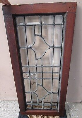 Heavy Duty Smaller Size Antique Arts & Crafts All Beveled Glass Window # 588