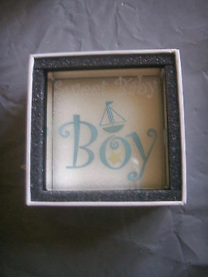 Clear Intentions Paperweightsweet Baby Boy Blue Birth Present For Baby Boy Bnib