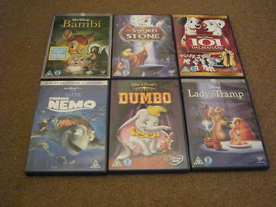 Disney Dvds - Collection - 101 Dalmations, Bambi, Toy Story, Sword Stone, Etc