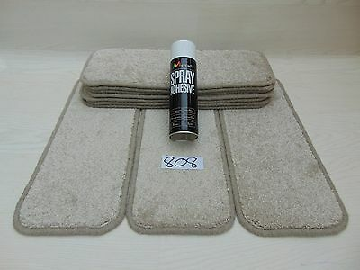 Carpet Stair pads /Mats / treads 10 off and  with a FREE can of SPRAY GLUE 808-2