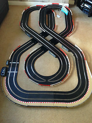 Scalextric Sport Large Layout With Lap Counter & 2 Cars Set