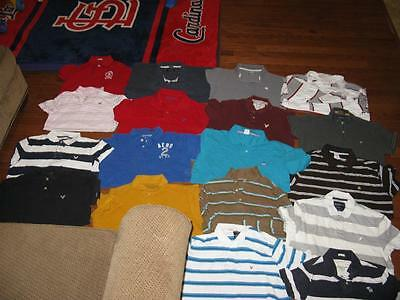 Lot Of 22 Adult Mens Polo Shirts American Eagle Hollister Tommy Express Size Xl