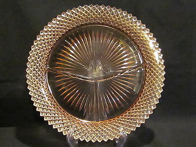 Hocking Glass Miss America Pink Grill Plates (2)