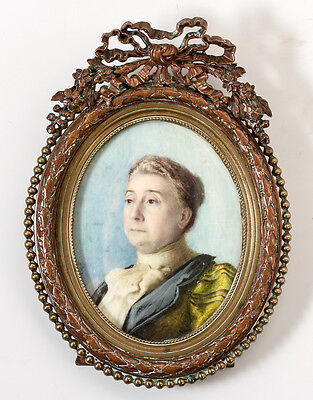 Superb Antique Portrait Miniature of a Victorian to Edwardian Era Lady, Dignity