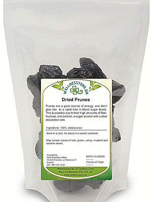 Dried Prunes Plums Pitted Large Fruit Non-GMO Source of Fibre 500g, 1kg, 2kg