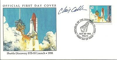 Space Shuttle Discovery Sts-95 Launch Mi Fdc, Stamp Designer Chris Calle Signed