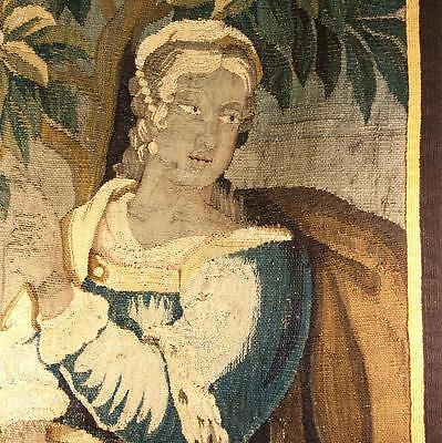 "Antique French or Flemish c.1600s Verdure Woven Tapestry Fragment, 36"" x 24"""