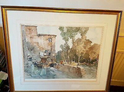 Sir william russell flint - The Mill Barbaste Limited edition print /850