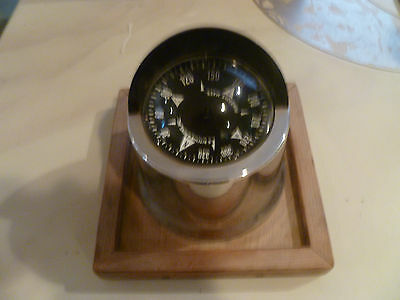 Vintage E. S. Ritchie & Sons Nautical Ship Compass With Light