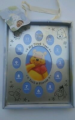 """Disney Baby Winnie the Pooh & Friends """" My First Year """" Picture Photo Frame"""