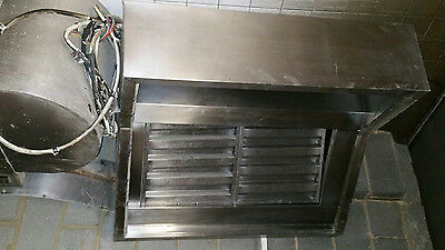 Stainless steel extractor canopy/hood