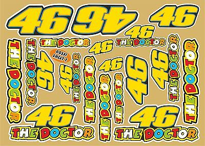 Rossi Valentino assorted decal sheet No.1 of 18 quality printed stickers
