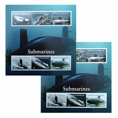 Submarines 2015 Stamp 6 Value perf/imperf Sheetlets MINT MNH UKpost