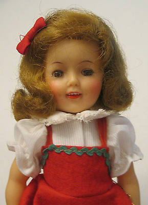 SHIRLEY TEMPLE ST-12 DOLL w/ RARE RED SCOTTIE DOG JUMPER DRESS SHOES & SOCKS