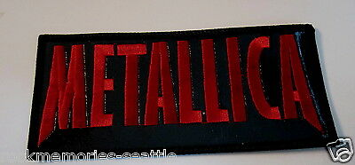 METALLICA Patch Sew On  vinyl embroidered name