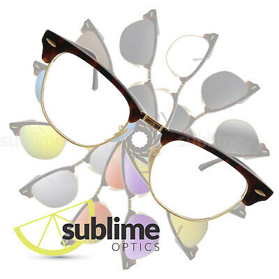 UV400 Clear Replacement Lenses for  Ray Ban Clubmaster 51mm RB3016  ~ UV Protect