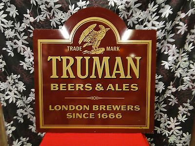 Large Trumans Beers Classic Metal Advertising Sign / Breweriania