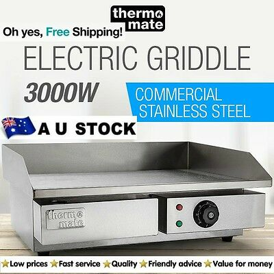 Electric Grill Griddle Hot Plate Stainless Steel Commercial BBQ Pan Food Grills