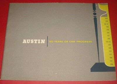 1905 - 1955 Austin 50 Years Brochure A40 Coupe Healey 100 A35 A70 Hereford Ruby