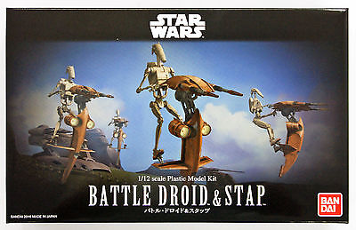 Bandai Star Wars Battle Droid & Stap 1/12 scale kit 075752