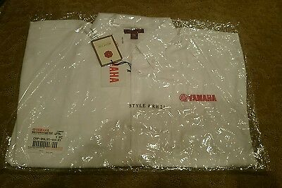 Yamaha BUTTON DOWN PIT SHIRT IN WHITE - SIZE 2XL New NWOT embroidered