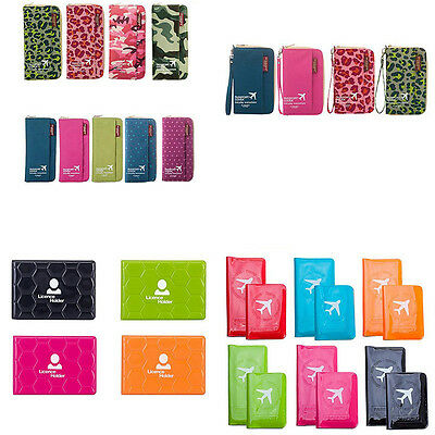 Travel Passport Organizer Holder Ticket ID Card Protector Cover Purse Wallet