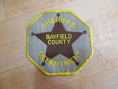 Collectible Patch Sheriff's Dept Bayfield  County Wisconsin