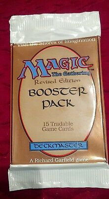 MTG Magic the Gathering Revised Edition Booster Pack sealed 1994 unused 15 cards