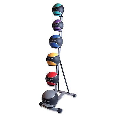 Medicine Ball Set Rack Cap Crossfit Strength Core Cardio Home Workout 6 Tier