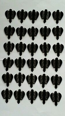 Bulk Pack of 30 Ruthless Extra Strong Kite Dart Flights Black Clear
