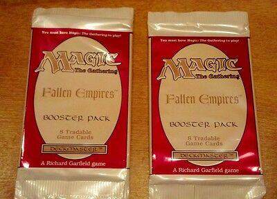 MTG Magic The Gathering FALLEN EMPIRES - TWO (2) Booster PACKS UNOPENED Sealed