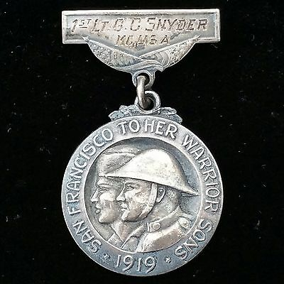Rare Medical Corps Engraved San Francisco WWI Service Medal